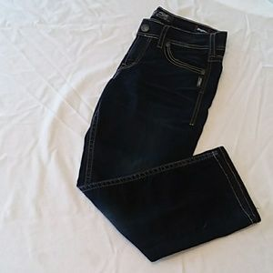 Silver Suki Mid Capri Jean (S:W30/L22.5